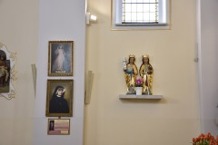 Rzeźby- św. Barbary i Katarzyny, późnogotyckie (początek XVI w.)